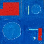 chris billington cornwall abstract artist Space in Colour - 40 x 40 acrylic on canvas