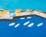 Boats & Ropes St Mawes (2008) - 20in x 16in - acrylic on board - Modern Art by British Artist Chris Billington