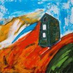 Carn Calver (2009) -76cm x 76cm - acrylic on canvas -Modern Art by British Artist Chris Billington