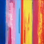 Carnival Fizz (2009) -75cm x 75cm - acrylic on canvas -Modern Art by British Artist Chris Billington