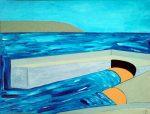 Coverack, 2008 acrylic on wood panel, 100 x 75cm - Modern Art by British Artist Chris Billington