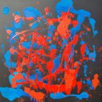Las Fallas (2010) - 80cm x 80cm - acrylic on canvas - Modern Art by British Artist Chris Billington
