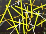 Ley Lines, 2010 acrylic on canvas, 80 x 60cm - Modern Art by British Artist Chris Billington