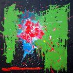 Strawberry Fields, Central Park, 2011 acrylic on canvas, 36 x 36in - Modern Art by British Artist Chris Billington