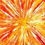 The God Particle, 2010 oil on canvas, 30 x 30cm - Modern Art by British Artist Chris Billington
