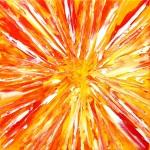 The God Particle (2010) ~ 30cm x 30cm ~ oil on canvas ~ Cornwall Open Studios 2010 ~ Chris Billington