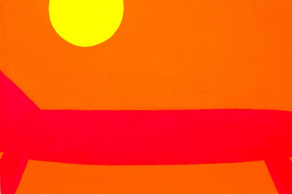 Hot Dog (2010) - acrylic on canvas 30in x 20in