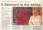 Chris Billington Valencia Christmas Exhibition - West Briton - Cornish Guardian - The Cornishman