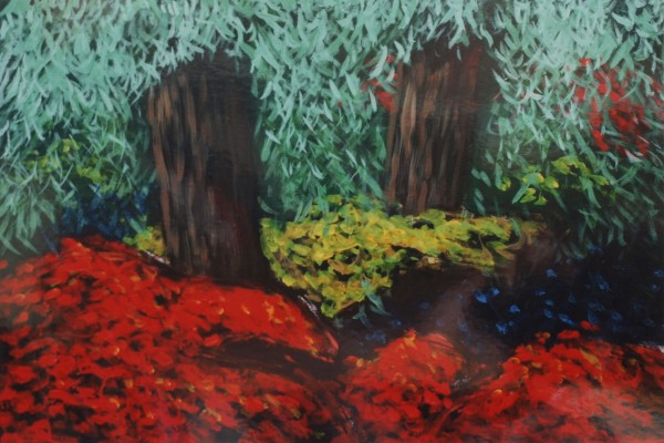 Cecil Riley - Plantscape - Autumn 1 (2011) - 36in x 24in - oil on paper