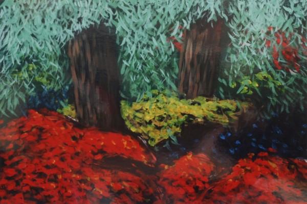 Cecil Riley - Plantscape - Autumn 1 (2011) - 36in x 24in - oil on paper