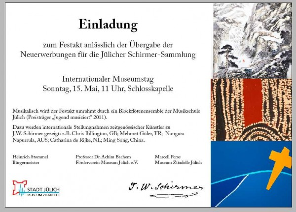 Julich Museum Einladung - Chris Billington