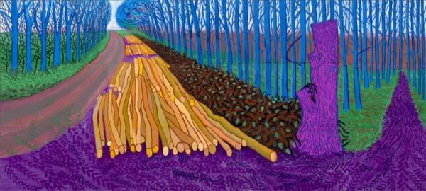 David Hockney RA - Winter Timber (2009)
