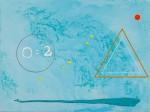 'K'ubul' ~ 80cm x 60cm ~ acrylic on canvas ~ Chris Billington ~ '2012 ~ Signs, Secrets & Symbols'