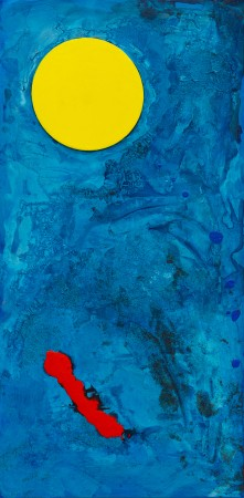 Temple Of The Moon ~ 50cm x 100cm ~ mixed media on canvas ~ Chris Billington
