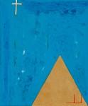 The Divine Illuminator ~ 50cm x 60cm ~ mixed media on canvas ~ Chris Billington