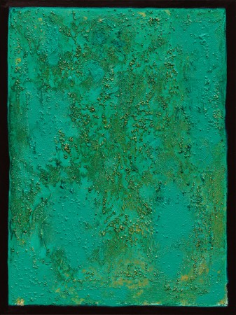 The Emerald Tablet ~ 60cm x 80cm ~ mixed media on canvas ~ Chris Billington