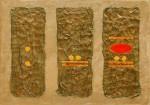 The World of The 5th Sun ~ 70cm x 50cm ~ mixed media on canvas ~ Chris Billington