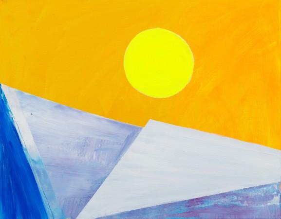 Winter Sun On Turner Contemporary (2012) ~ 50cm X 40cm ~ Chris Billington