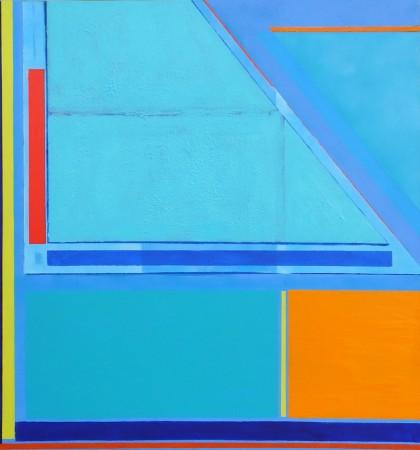 Gyllyngvase (xiv) 2014 ~ 30in x 32in ~ acrylic on canvas ~ Chris Billington
