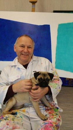 The Painter and his Pug ~ Chris Billington ~  Cornwall  Artlab 2015