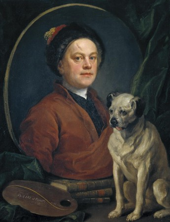 The Painter and his Pug 1745 by William Hogarth (1697-1764) ~ Tate Britain