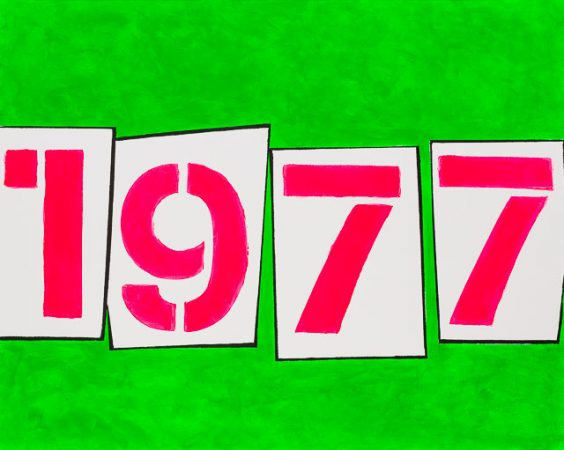 1977 (2014) - 40in X 32in -Punk The Transatlantic Paintings - Chris-Billington - Sold Modern Art