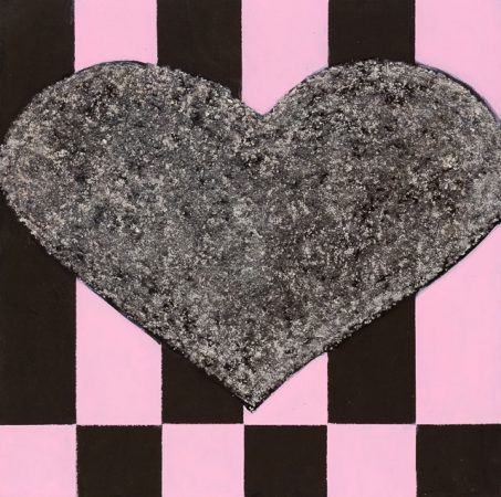 Heart Of Glass (2014) - 12in X 12in -Punk The Transatlantic Paintings - Chris-Billington - Sold Modern Art
