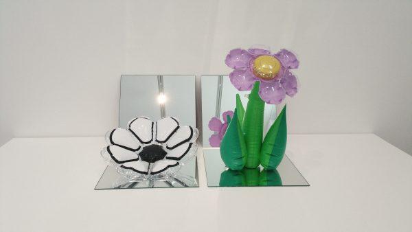 Jeff Koons Inflatable Flowers Short White Tall Purple Damien