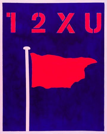 Pink Flag (2014) - 32in X 40in -Punk The Transatlantic Paintings - Chris-Billington - Sold Art