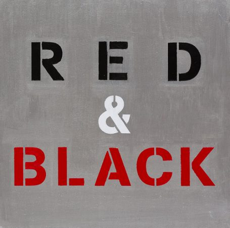 Red & Black (2014) - 12in X 12in -Punk The Transatlantic Paintings - Chris-Billington - Sold Modern Art