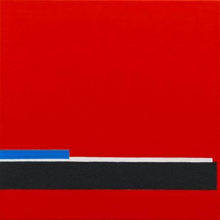 Snow On The Tracks Southend Pier (2012) - 50cm X 50cm - Chris Billington - Sold Modern Art
