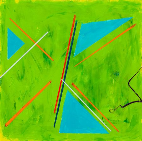 Teenage Kicks (2014) - 12in X 12in -Punk The Transatlantic Paintings - Chris-Billington - Sold Modern Art