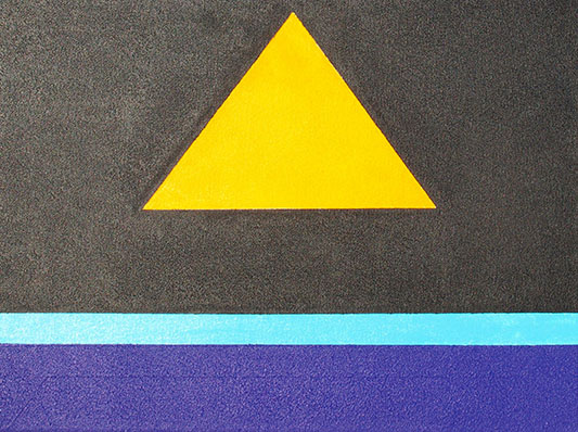 Dark Side of The Eifel, 2011 acrylic on canvas, 20 x 15in, Modern Art by British Artist Chris Billington - Sold Art