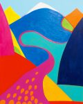 Euskaltel, 2012 acrylic on canvas, 80 x 100cm - Modern Art by British Artist Chris Billington