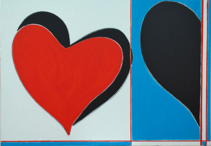 Love Etc., 2009 acrylic on canvas, 100 x 70cm, Sold Art 2018, Modern Art by British Artist Chris Billington