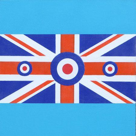 Spitfire Boys, 2018 acrylic on panel, 12 x 12in, Sold Art 2018, Modern Art by British Artist Chris Billington