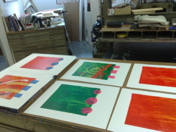 printing in progress, Advanced Graphics, London