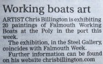 Chris Billington - Falmouth Working Boats Exhibition - West Briton