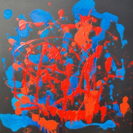 Las Fallas (2010) - acrylic on canvas - Chris Billington