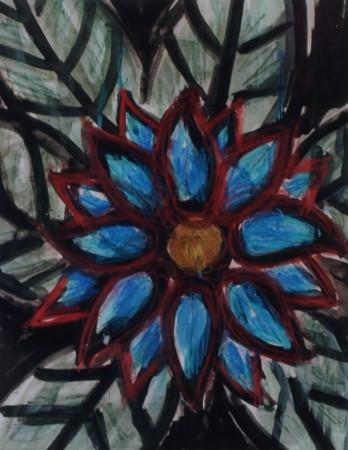 Cecil Riley - Plantscape BG (2010) - 14in x 16in - acrylic on paper