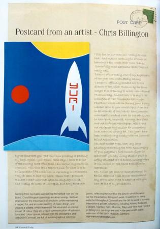 Chris Billington - Cornwall Today - Postcard From An Artist