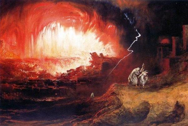 John Martin - Destruction of Sodom and Gomorrah - 1852