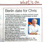 Chris Billington - Berlin date for Chris - The West Briton