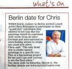 Chris Billington - Berlin date for Chris - The West Briton