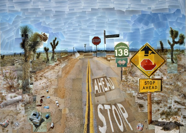 David Hockney RA - Pearblossom Highway - 1986