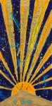 Behold The Astral Light of Egypt ~ 50cm x 100cm ~ mixed media on canvas ~ Chris Billington