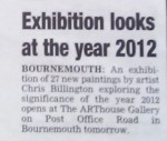 Chris Billington ~ '2012 ~ Signs, Secrets & Symbols' ~ Bournemouth Echo