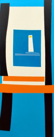 'Longview On Longships (ii)' (2009) ~ 40cm x 100cm ~ Marie Curie 2012 ~ Chris Billington