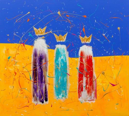 We Three Cosmic Kings (2012) ~ 40in X 36in ~ Chris Billington