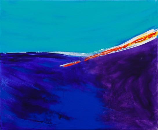 Winter Light Over The White Cliffs Of Dover (2012) ~ 60cm X 50cm ~ Chris Billington